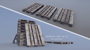 Cargo Wood Pallets EUR EPAL vr-3 3D