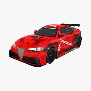 Alfa Romeo Giulia ETCR 3D model