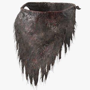 3D bloody rag loincloth fur model
