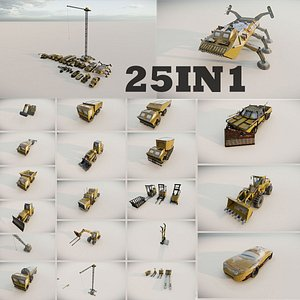 Heavy  Machinery Equipment Industrial 3D model