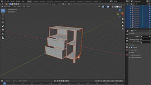 3d kitchen cabnet draz model free 3D