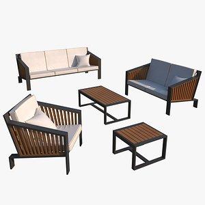 3D model Patio outdoor furniture