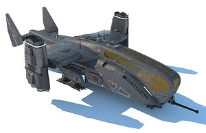 dropship spaceship model