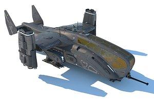 dropship spaceship model