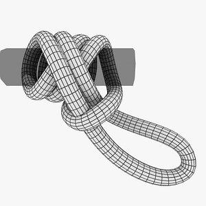 3D knot hitch