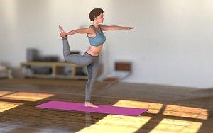 3D yoga character sport