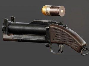 sawed m79 grenade launcher 3D model