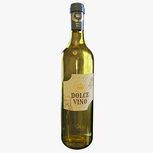 White Wine Bottle 3D
