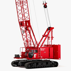 3D model Manitowoc MLC100-1 High Boom Crawler Crane