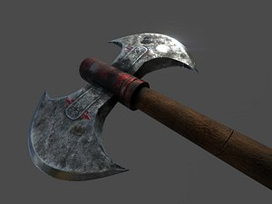 axe weapon weaponry 3D model
