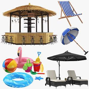3D beach toys bar chair