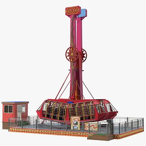 3D model Kamikaze Ranger Ride Attraction OFF