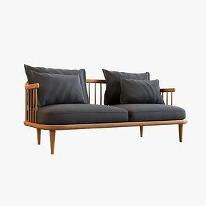 Fly Double Sofa V1 3D model
