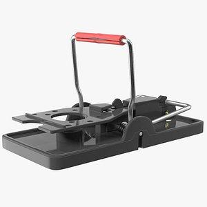 Plastic Mouse Trap Black 3D model
