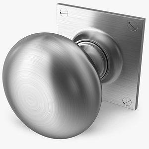 3D door knob steel model