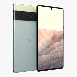 Google Pixel 6 Green 3D model