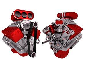 engine v12 3D model