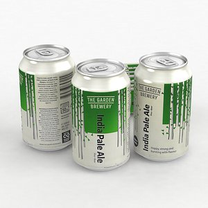 3D model Beer Can Garden Brewery Indian Pale Ale IPA 330ml 2021