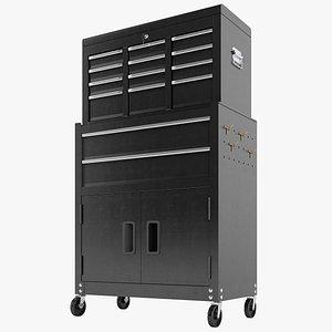 Tool Box Trolley Storage Garage 02 3D