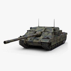 3D FV 217 Badger Tank Desrtoyer