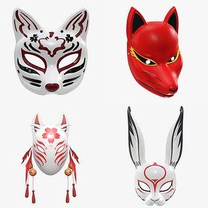 Masks PBR 3D model