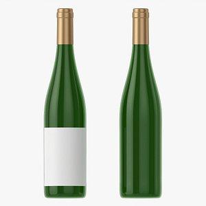3D Wine bottle mockup 10 model