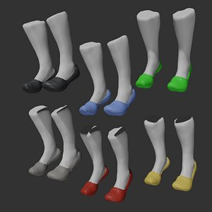 Colored Socks 3D
