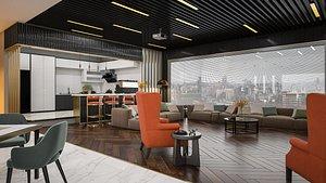 room interior decoration 3D