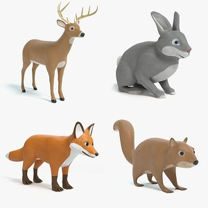 3D cartoon toon animal model