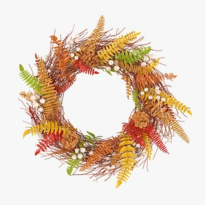 3D model colored autumn wreath