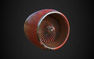 aircraft turbine model