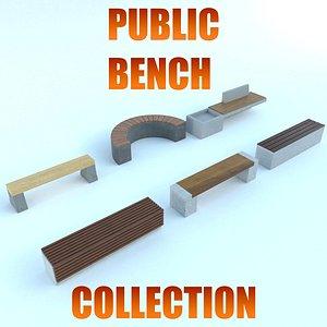 bench public 3D