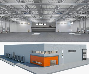 Warehouse Logistic 4 interior and exterior 3D model