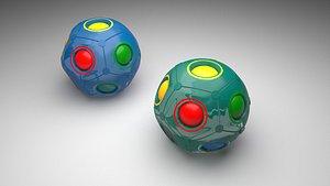 3D model Color Shift Puzzle Balls