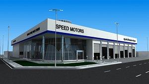 3D car showroom model