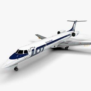 LOT EMBRAER ERJ 145 L1412 3D model