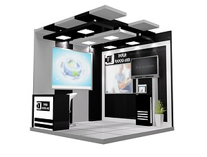 Booth Exhibition Stand a599e 3D