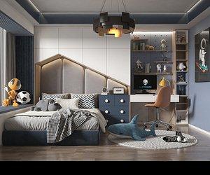 Bedroom Postmodern Bedroom Master Bedroom Simple Bedroom Deluxe Bedroom European Bedroom Children's 3D model