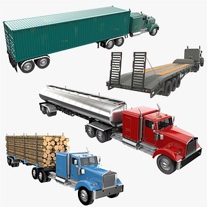 Truck Trailer Collection 3 3D model