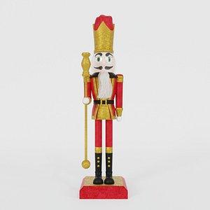 3D christmas nutcracker model