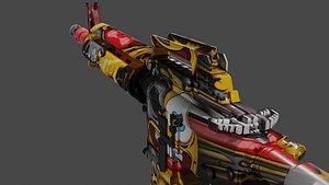 m4a1 pbr unreal 3D model