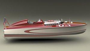 3D allison boat speedboat
