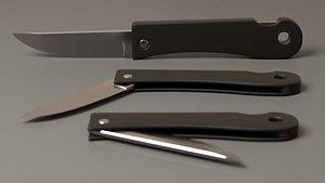 3D penknife model