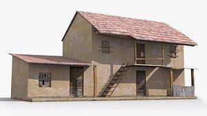 slum shanty hut model