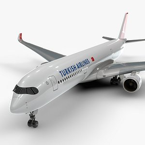 3D model a350-900 turkish airlines l1114