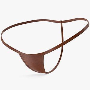 Leather Panties 3 3D model
