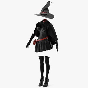 3D model Witch Costume 5