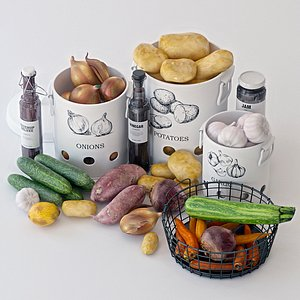 3D grocery vegetables model