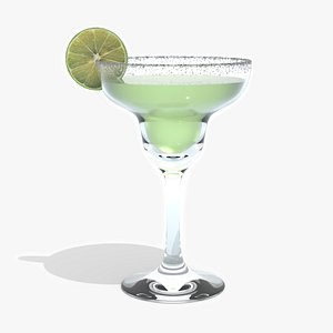 3D model Margarita Cocktail - with Lime