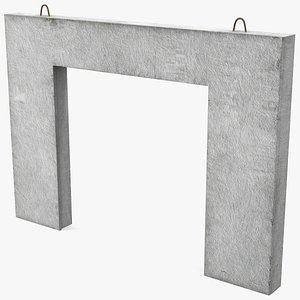 3D prefabricated concrete panel